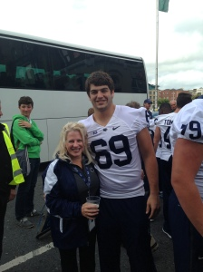 Me & middle son at the PSU game in Ireland.  It's who I am.
