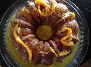GF Rum Cake with Cider Rum Glaze
