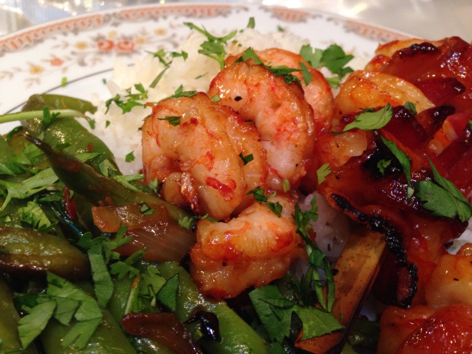 Bacon Wrapped BBQ Shrimp