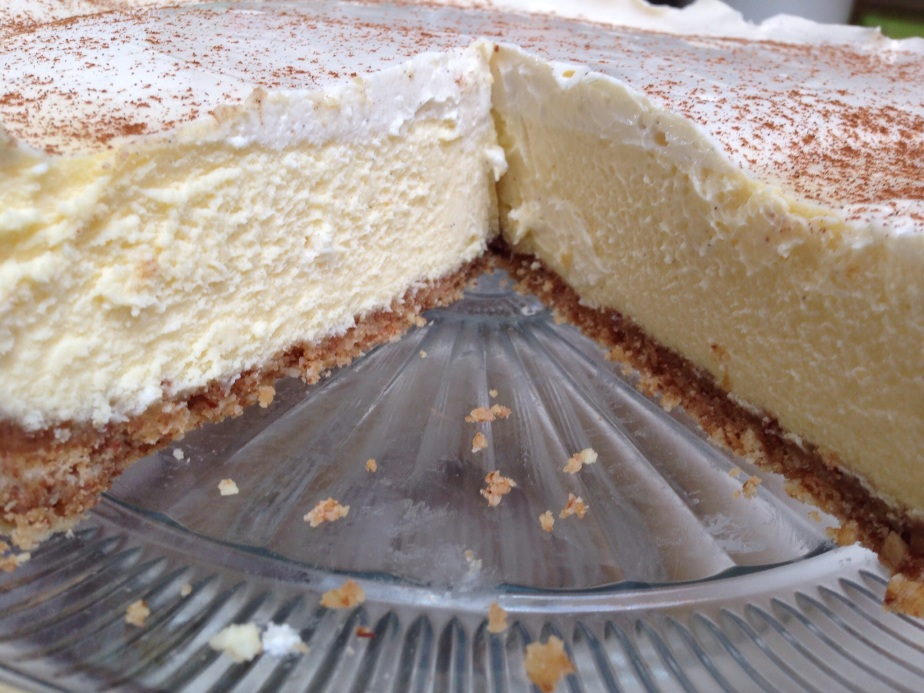 Vanilla Cheesecake with a Shortbread and Almond Crust – and it is gluten-free.