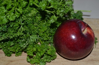 Parsley and apple